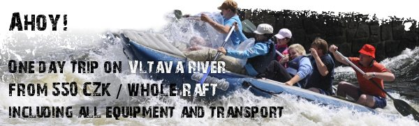 Raft rental - one day trip from 550 CZK / whole raft including all equipment and transportation